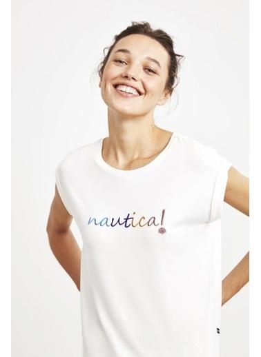 Nautica W109 Pijama Takım Beyaz